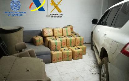 Aprehendidos 2.500 kilogramos de hachís en una finca en la urbanización de Santa Margarita de La Línea de la Concepción