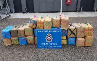 La Policía Real de Gibraltar evita una operación de contrabando e intercepta un importante alijo de cannabis