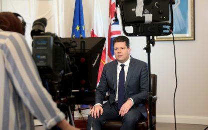 Discurso televisivo de Fabián Picardo para explicar la situación actual de las negociaciones del Brexit