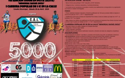 """El 28 de abril se celebrará la prueba de """"5000 metros en pista"""" y la I Carrera Popular """"Memorial Rafael Boza"""""""