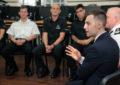El Ministro Neil Costa se dirige a los reclutas de la Royal Gibraltar Police