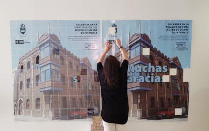 Un puzle  anima a colaborar con la finalización del museo de Víctor Quintanilla