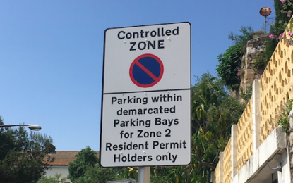 Pequeñas modificaciones en el esquema de estacionamiento de la Zona 2 en Gibraltar