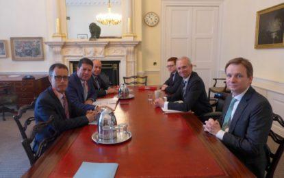 El Ministro Principal y el Viceministro se han reunido hoy en Londres con David Lidington para tratar temas relacionados con el Brexit
