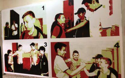 Yeyo Argüez pinta a la convivencia en el Instituto Antonio Machado