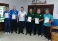 El Club Linense  de Tiro Olímpico recibe la felicitación del delegado municipal de Deportes