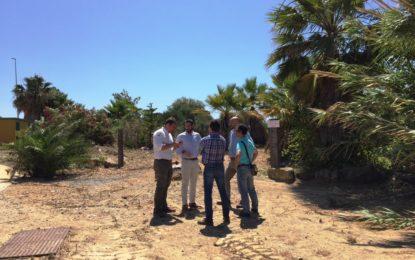 Franco supervisa el inicio de la remodelación de las zonas verdes del Parque Torrenueva