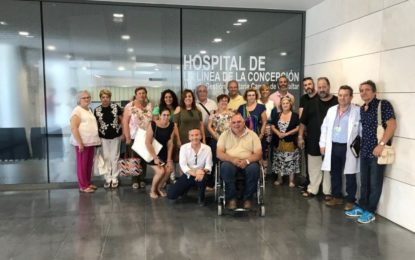 Colectivos sociales y asociaciones de pacientes del Campo de Gibraltar conocen el nuevo Hospital de La Línea de la Concepción
