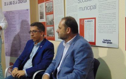"""Ábalos aboga en La Línea por ganar la """"confianza"""" de los ciudadanos para que el PSOE tenga en el futuro una """"mayoría más amplia"""""""