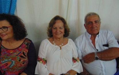 Paquita, de Confecciones Paquita, disfrutando del concurso de Sevillanas de Sin Comentario