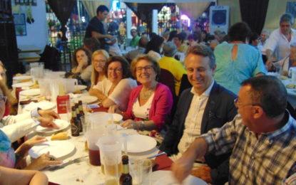Cena de convivencia de Asansull en la Feria de La Línea