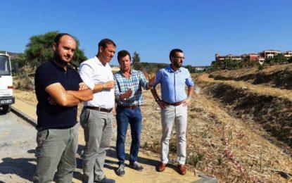 El alcalde supervisa las obras de remodelación de Parque Torrenueva que avanzan a muy buen ritmo