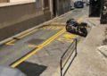 Pintadas en la carretera dos nuevas paradas de autobús en Gibraltar