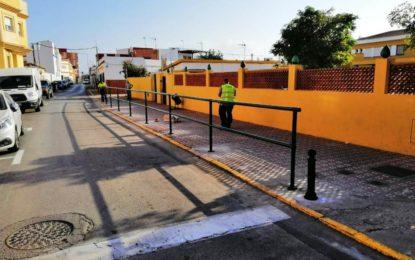 Educación acomete obras de adaptación en los accesos y estacionamientos del colegio Gibraltar