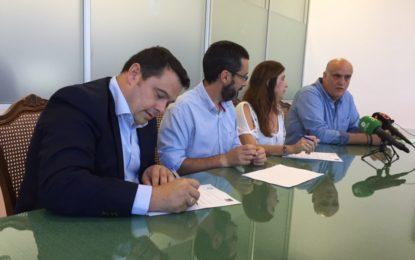 Ubago y la Unión Linense de Baloncesto firman en el ayuntamiento un convenio de colaboración que beneficiará a las categorías inferiores