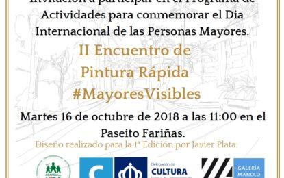 La delegación de Cultura colabora con Asansull en el II Encuentro de Pintura Rápida #MayoresVisibles
