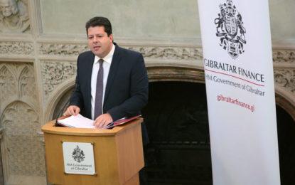 Picardo subraya la sólida posición de la economía gibraltareña frente al Brexit ante los representantes del sector de servicios financieros en Londres