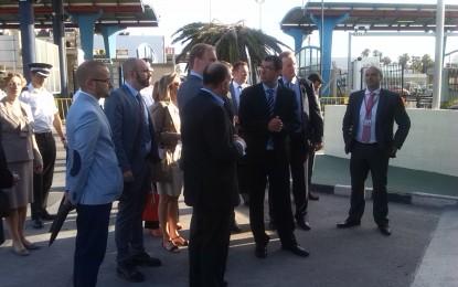 Inspectores de la UE han estado esta la mañana en la frontera con Gibraltar