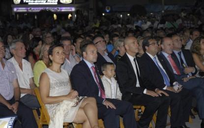 Sonido de la alcaldesa de La Línea, Gemma Araujo, anoche en la coronación, donde dijo que «el linense siempre da la mejor cara»