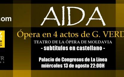 La ópera Aída se escenifica este miércoles en el Palacio de Congresos