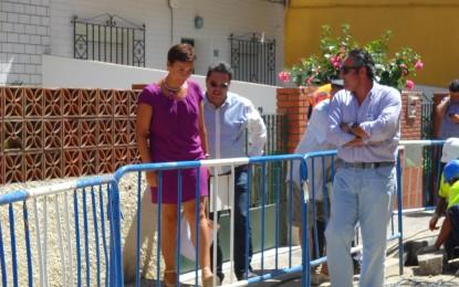 La alcaldesa destaca las obras de las nuevas canalizaciones de aguas negras en La Colonia