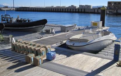 Detenciones por tráfico de drogas en el mar por parte de la Royal Police de Gibraltar