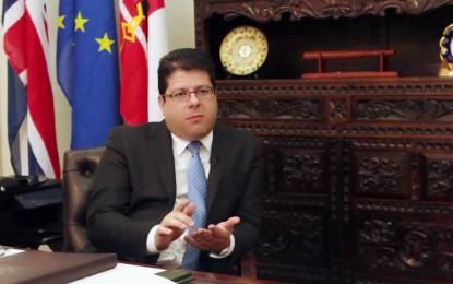 Fabián Picardo comparece por iniciativa propia ante la Comisión Especial sobre Resoluciones Fiscales del Parlamento Europeo
