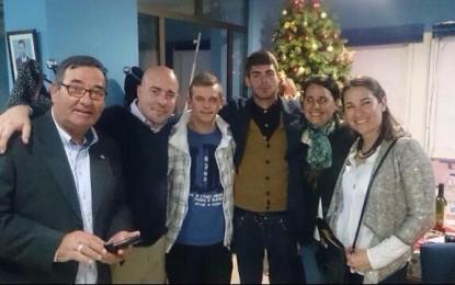 El ex patrón de los pescadores linenses,Leoncio Fernández, en la cena de Navidad del Partido Popular