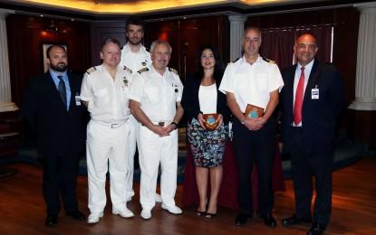 El crucero Caribbean Princess, el octavo en hacer escala inaugural en Gibraltar en lo que va de año