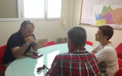 Gemma Araujo se reúne con el presidente de UFAL (Unión de fútbol aficionado linense)
