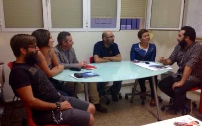 Reunión de Gemma Araujo con representantes del laboratorio urbano de la bicicleta