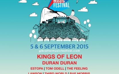 Kings of Leon, Duran Duran y Estopa, entre los artistas confirmados para el Festival de Música de Gibraltar