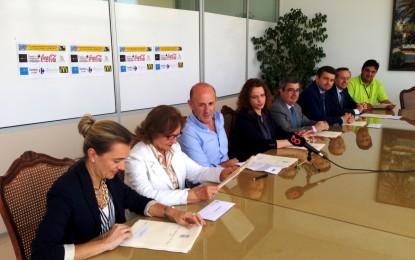 Firma de los convenios para el patrocinio de los Juegos Deportivos del Estrecho