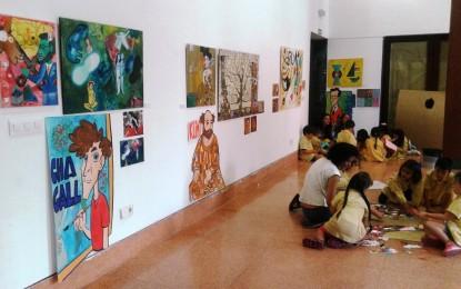 Hasta el 30 de mayo, el edificio Istmo Comandancia acoge la exposición anual de pintura de alumnos de grado de educación infantil de Magisterio