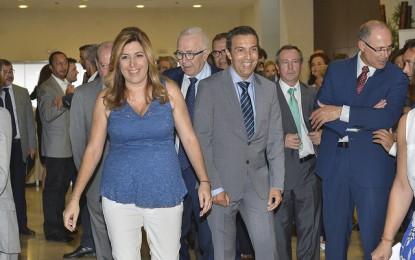 Susana Díaz ha asistido a la presentación de la memoria de las empresas del Campo de Gibraltar, que ingresaron en 2014 unos 11.777 millones de euros