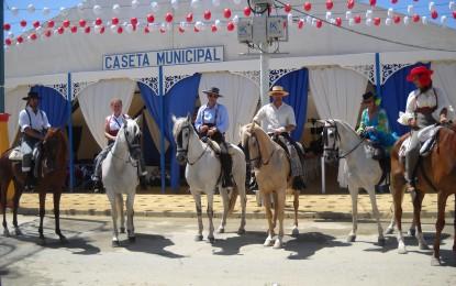 Concentración de caballistas en el recinto ferial de La Línea