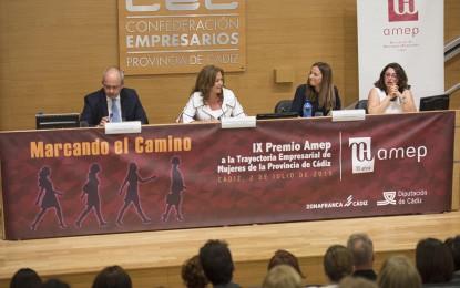 Ana Carrera entregó los Premios AMEP 'Marcando el Camino' a la mejor trayectoria empresarial