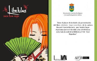"""Presentación en la biblioteca municipal """"José Riquelme"""" del libro """"Libélulas. Saga luna roja"""", de Nazaret García"""
