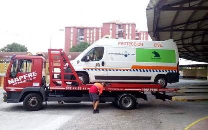Tras su reparación, la ambulancia de Protección Civil vuelve a estar operativa