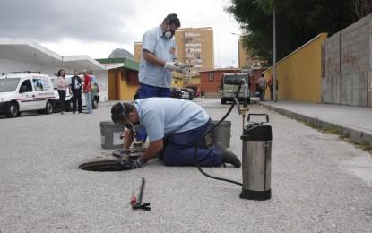 Continúa la campaña de desratización y desinsectación por todo el municipio