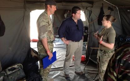 Picardo visita Marruecos para asistir al ejercicio de adiestramiento militar Jebel Sahara