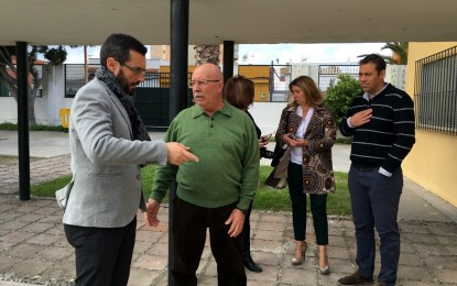 Franco visita el IES Antonio Machado al ponerse en marcha el convenio de colaboración para prevenir el fracaso escolar