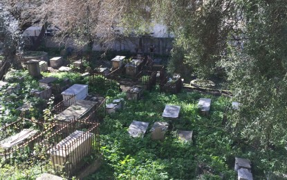 Inicio de las obras de restauración en el cementerio de Witham