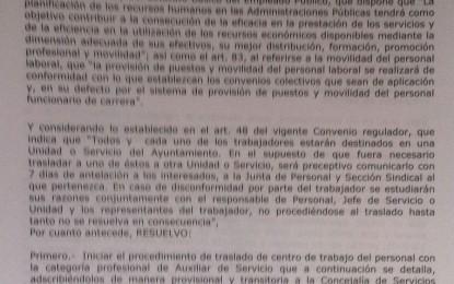 Franco firma el decreto y obliga a los auxiliares a salir de la Jefatura de Policía Local