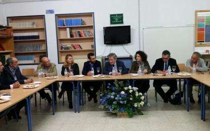 Ayuntamiento y responsables de colegios e institutos linenses se reúnen con la Fundación Yehudi Menuhin