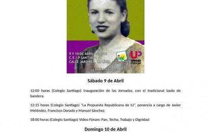 Este fin de semana IV Jornadas Culturales Republicanas de IU La Línea