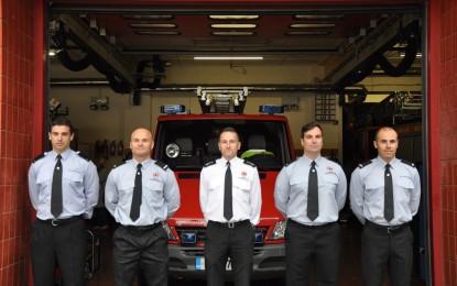 Nueva promoción de bomberos en Gibraltar