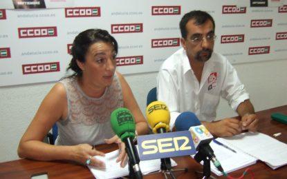 CCOO muestra sus condolencias por la muerte de un trabajador durante el temporal en La Línea