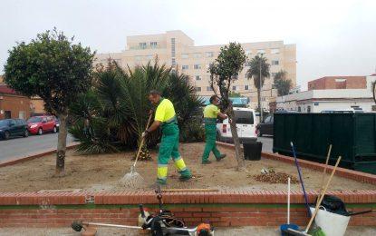 Trabajos realizados en los últimos días por Parques y Jardines