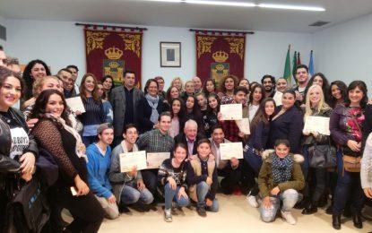 Acto institucional con motivo del Día de los Gitanos Andaluces en el salón de plenos del Ayuntamiento
